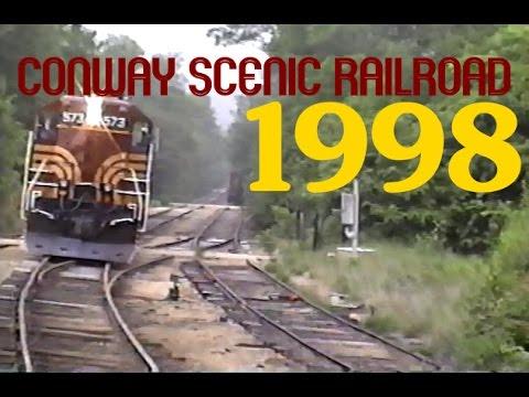 CONWAY SCENIC RAILROAD 1998 ORIGINAL FOOTAGE