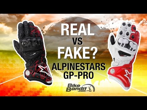 Alpinestars Motorcycle Glove Breakdown - Real vs. Fake | BikeBandit.com