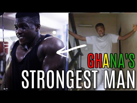 GHANA'S STRONGEST MAN | ONLY LIFTED HIS FIRST WEIGHT 4 YEARS AGO!!!