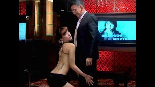 In order to thank president Wang, Baby danced a hot dance