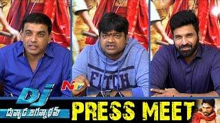 Dj movie team press meet || dil raju, harish shankar, subbaraju || ntv