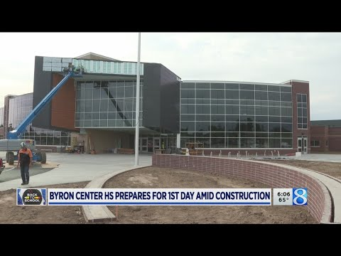 Byron Center HS Welcomes Students Despite Construction