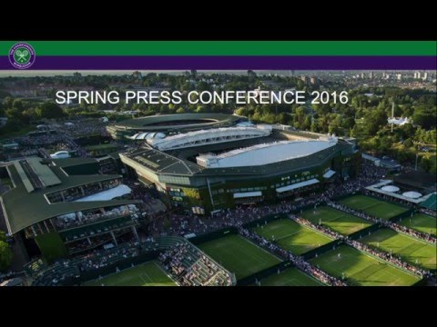 Wimbledon Spring Press Conference 2016