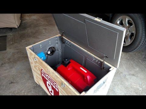⚡ Part 7 (Sound deadening installed) Honda EU2000i inverter/generator baffle box