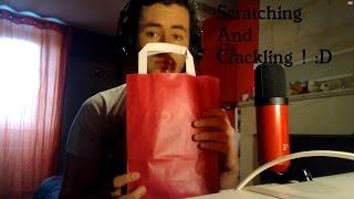 ASMR FRANCAIS - Le Sac Qui Craque Et Qui Gratte ! + Concours (Scratching, Crackling, Whispers) [HD]