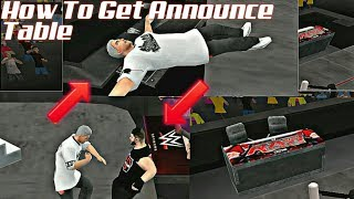 How To Get Announce Table In SvR11 PSP | BK WWE