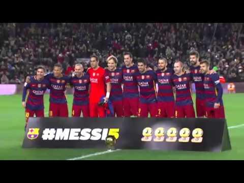 Messi ofrece el quinto Balón de oro a la afición - YouTube f25fc94547f7d