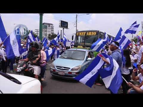 Así estuvo la protesta este domingo en Managua