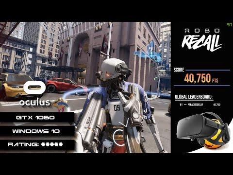 Robo Recall VR | Oculus Rift | GeForce GTX 1060 (With