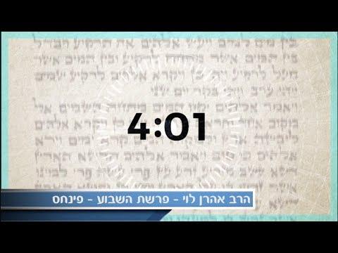 לא הכל כסף - פרשת פנחס עם הרב אהרן לוי