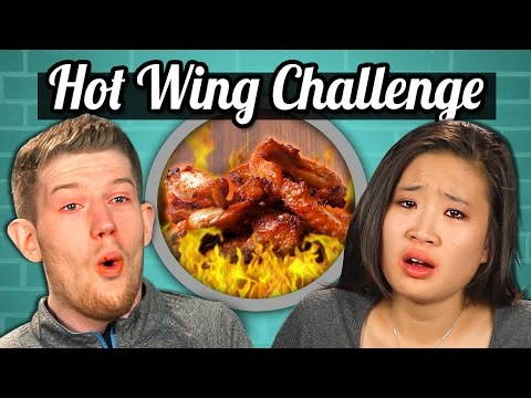 Thumbnail: ADULTS vs. FOOD - HOT WINGS CHALLENGE