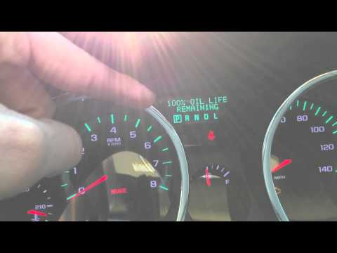 Oil Change Light Reset - Chevy Traverse 2011