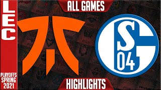 FNC vs S04 Highlights ALL GAMES | LEC Spring 2021 Playoffs Round 2 | Fnatic vs Schalke 04