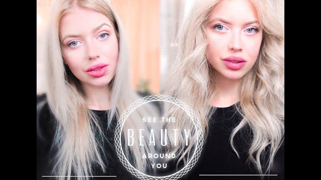 Как накрутить волосы короткие на утюжок видео