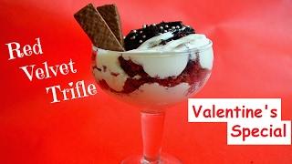 Red Velvet Trifle  Valentine&#39s Day Special Dessert