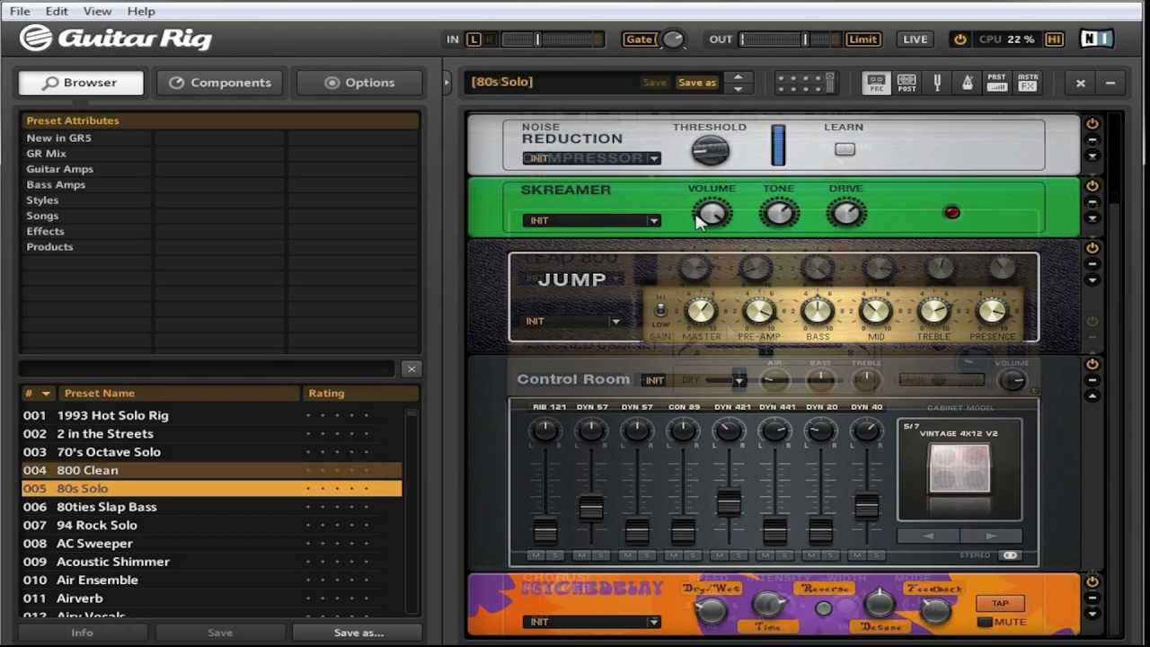 guitar rig 5 latency mac