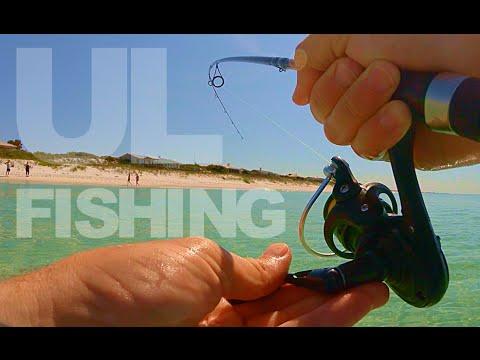 Ultra Light Surf Fishing + SHARK ENCOUNTER
