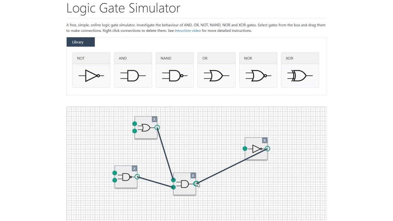 logic gate simulator youtube