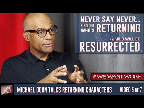 "Michael Dorn talks about the potential ""Star Trek TNG: , The Worf Chronicles"" (""Captain Worf"") series and who he would like to make an appearance"