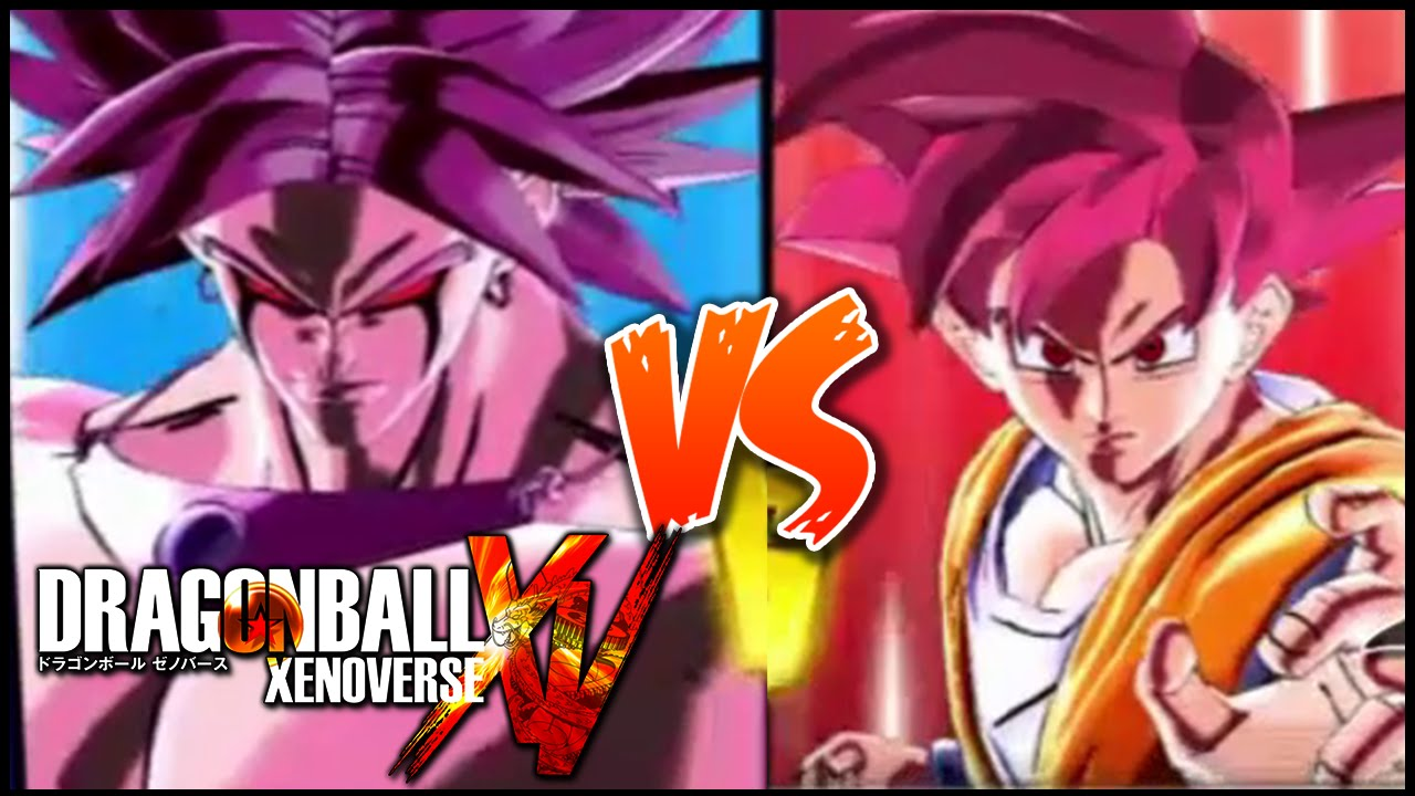 dragonball xenoverse dark broly vs ssj god goku�hd� youtube