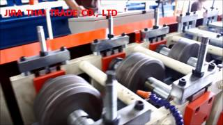 เครื่องรีดเหล็ก Roll forming Machine C & U Profile(เครื่องรีดเหล็ก Rollforming Machine for C Profile Changing size by 14 stations for C Profile (3 Size 75 m.m., 89 & 100 m.m.) & U 90 Profile. Machine Specifications., 2015-06-13T14:29:36.000Z)