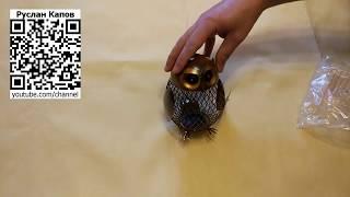 Копилка сова латунная посылка из китая