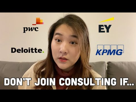 DON'T JOIN CONSULTING if... | Reality of being a consultant