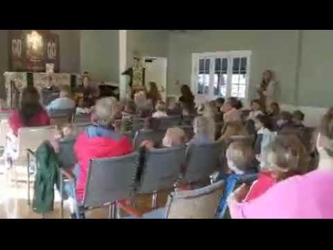 All Saints Parish School Sings During Chapel in Parish Hall - Feb. 6, 2019