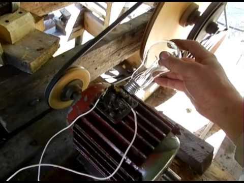 видео: Асинхронный двигатель в режиме генератора