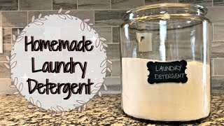 HOMEMADE LAUNDRY DETERGENT :: NON TOXIC LAUNDRY DETERGENT RECIPE :: CHEAP, FAST & EASY