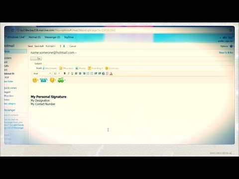 How to Create an Email Signature in Hotmail