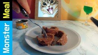 Eating CAT FOOD!! | Monster Meal ASMR Sounds | Kluna Tik Style Dinner No Talk