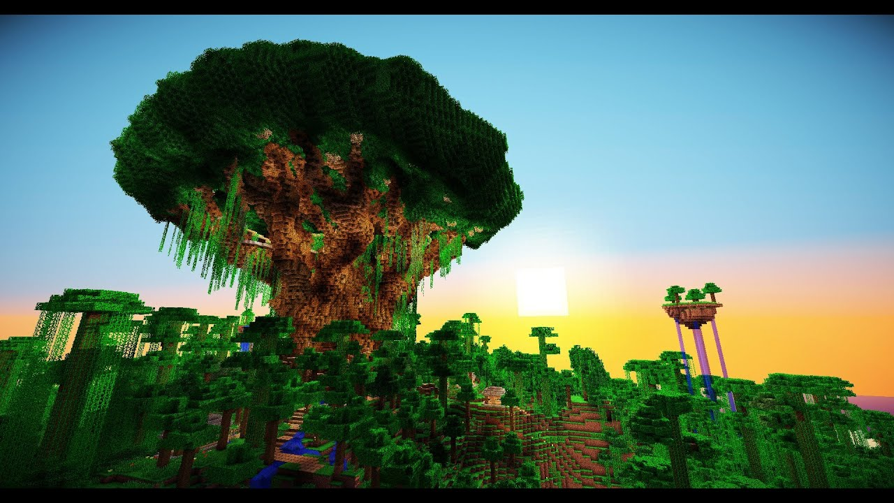 Live Pc Girl Wallpapers Minecraft Giant Tree Youtube