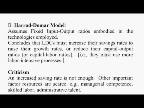 "Summary of ""Three Schools of Thought"" in Economic Development"