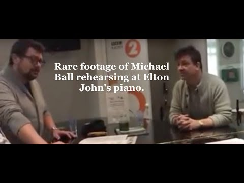 Michael Ball rehearsing 'Jessie' with Michael Armstrong