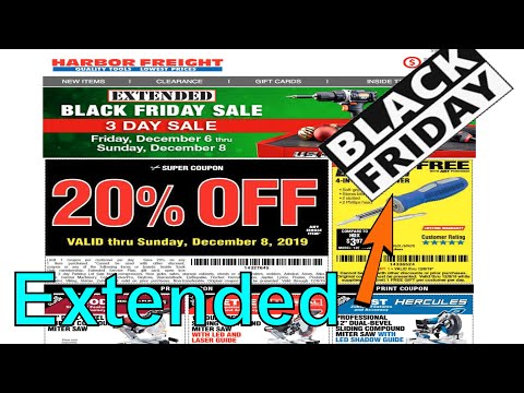Extended Black Friday Sale 3 Days Only!||Harbor Freight