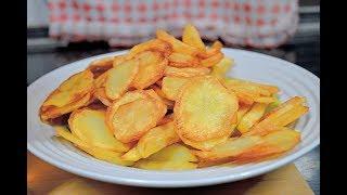 Картошка фри в домашних условиях. Рецепт закуски к пиву. Домашние чипсы