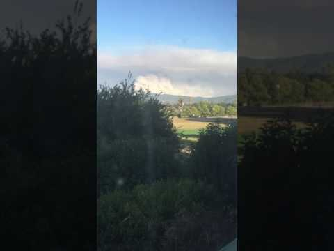 Whittier fire Santa Barbara time lapse while I was working the land