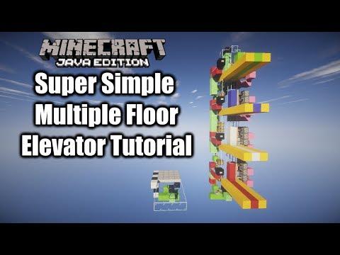 simple-mutitple-floor-elevator-minecraft-1.14.4-java