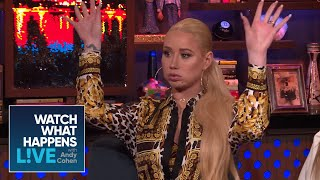 iggy azalea burned nick youngs designer clothes wwhl