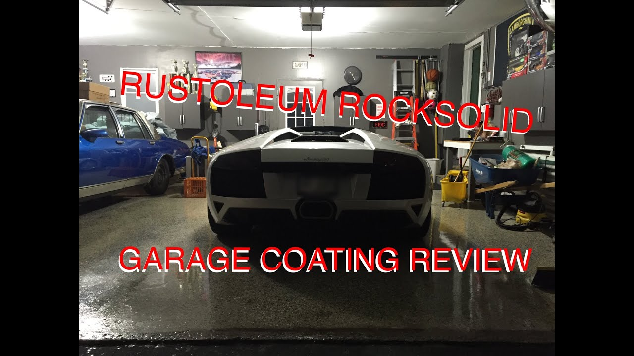 Garage Floor Paint Gloss Rustoleum Rocksolid Garage Floor Coating Review Youtube