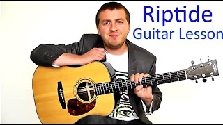 riptide - easy beginners guitar lesson - vance joy - no capo