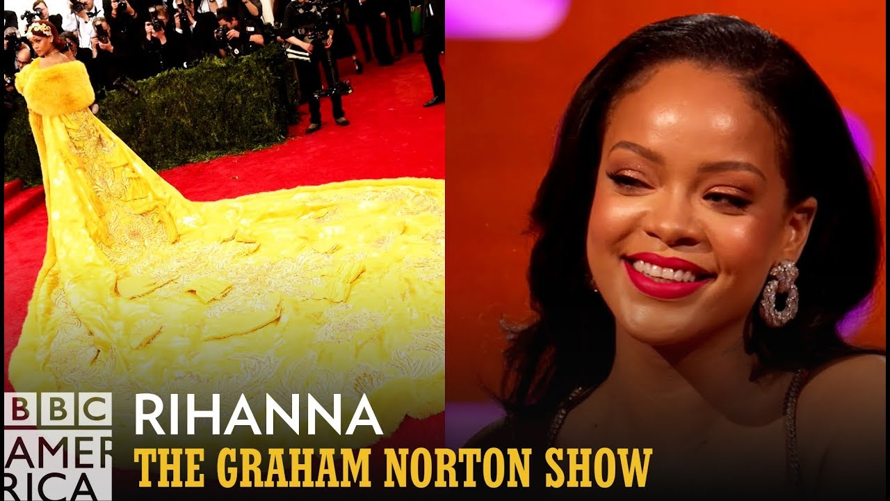 Rihanna Reveals The Trick To Wearing Her 'Met Gala' Gowns - The Graham Norton Show