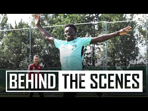 Saka's first session!  |  Bukayo returns to pre-season |  Behind the scenes at the Arsenal Training Center