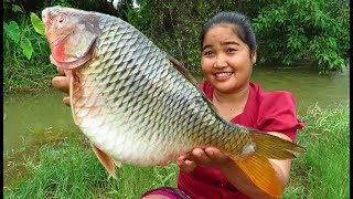 Yummy Cooking big fish with Tamarind recipe & My Cooking skill