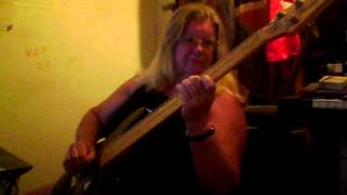Betsy Mary Crowley playing my bass to The lemon Song/Killing Floor Blues