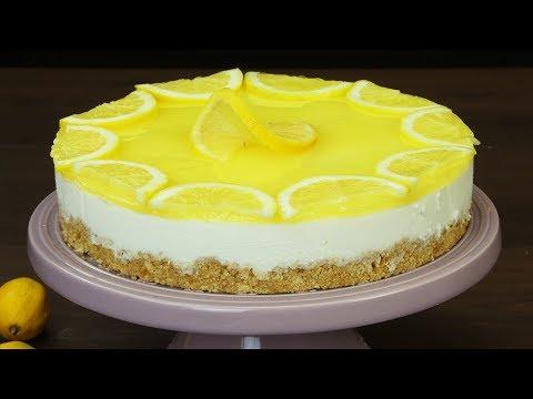 Необыкновенно нежный и вкусный лимонный чизкейк с йогуртом без выпечки!   Appetitno.TV