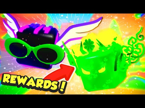Getting GALACTIC SHOCK AND OVERSEER From St. Patrick's Rewards In Roblox Bubble Gum Simulator!