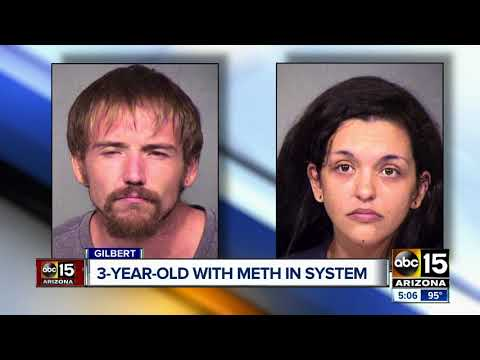 Couple charged with child abuse after meth found in toddler's system