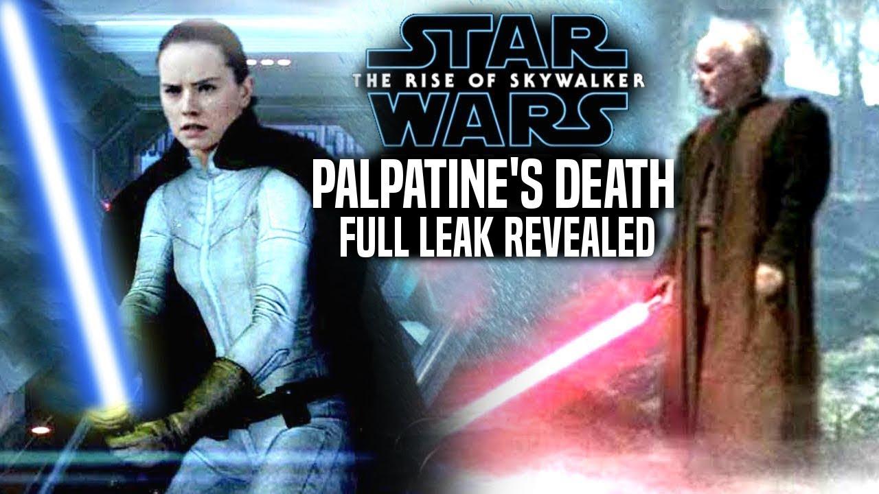 Palpatine S Death Full Leak The Rise Of Skywalker Star Wars Episode 9 Spoilers Youtube
